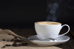 Single Cup of Coffee Royalty Free Stock Photos