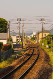 A Single Curved Line Railways in Japan. Only the local train can run on this railway Stock Photos
