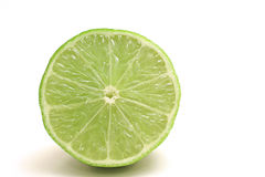 Single cut lime Stock Photo