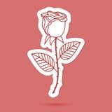 Single cute rose, element for your designes Stock Image