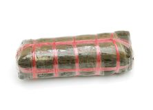 Single cylindric glutinous cake Royalty Free Stock Images