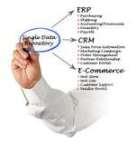 Single Data Repository Royalty Free Stock Photos