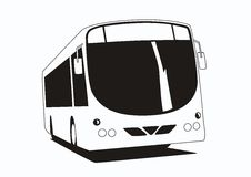 Single Deck Bus. Illustration of a modern urban commuter bus Royalty Free Stock Photos