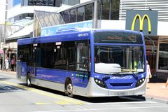Single deck bus in Gowellington livery Wellington Royalty Free Stock Photos