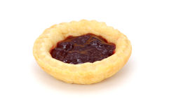 Single delicious jam tart Stock Image