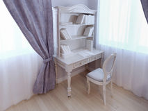 Single desk near window Royalty Free Stock Photography