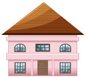 A single detached pink house Stock Image