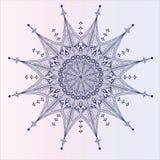 Single detailed snowflake. With twelve rayes Stock Photos