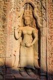 Single Devata in Ta Prohm Temple Stock Photos