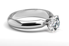 Single Diamond Ring Stock Image