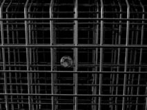 A Diamond behind Metal Bars royalty free stock photography