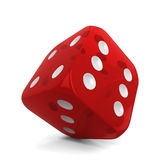 Single dice. 3d illustration  on white background Royalty Free Stock Image