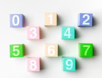 Single digit numbers Stock Image