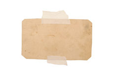 Single dirty piece of paper Royalty Free Stock Photos