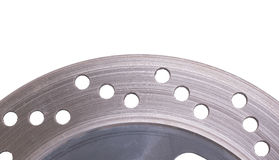 Single disc brake rotor of a motorcycle Royalty Free Stock Photography