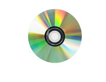 Single disc cd isolated on white. Stock Image