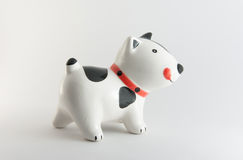 Single Dog. This is a Ceramic dog. Isolated stock photography
