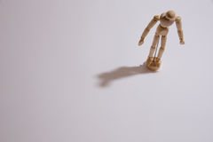 A single doll man stand alone in loneliness Royalty Free Stock Photo