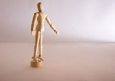 A single doll man stand alone in loneliness Stock Images
