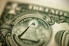 Single dollar bill. Close up of single dollar bill Royalty Free Stock Photography