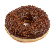 Brown chocolate Donut with sugar sprinkles Royalty Free Stock Photography