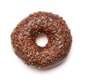 Brown chocolate Donut with sugar sprinkles Stock Photos