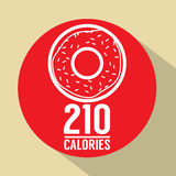 Single Donut 210 Calories Symbol Stock Images