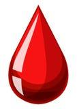 Single drop of human blood Stock Image
