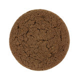 Single Dutch Cocoa Soft Cookie On White Royalty Free Stock Photography