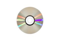 Single DVD(CD) disc. Isolated over white Stock Images