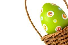 Single Easter egg from corner Stock Photos