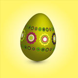 Single easter egg with floral ornament Royalty Free Stock Photos