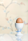 Single egg in an egg cup Royalty Free Stock Image