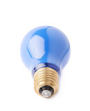 Single electric bulb lying on its side, isolated over the white background Stock Image