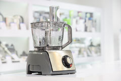 Single electric food processor in retail store Stock Photos
