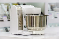 Single electric food processor in retail store Royalty Free Stock Photography