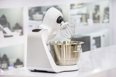 Single electric juicer in retail store Stock Photos