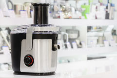 Single electric juicer in retail store Royalty Free Stock Photo