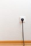 Single electric socket with plug Stock Photos