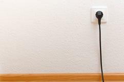 Single electric socket with plug Stock Image