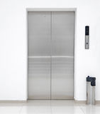 Single elevator door Stock Photography