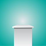Single empty pedestal eps 10  Royalty Free Stock Image