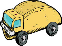 Single Empty Taco Dump Truck Drawing Stock Images
