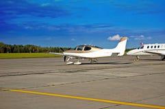 Single engine aircraft. Stock Photography