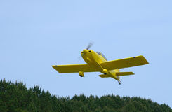 Single-Engine-Aircraft Taking-Off. Small civil-airplane lifting-off Royalty Free Stock Image