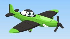 Single engine airplane cartoon. Illustration Stock Photos