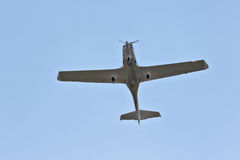 Single-engine light aircraft flying in the sky Royalty Free Stock Photography