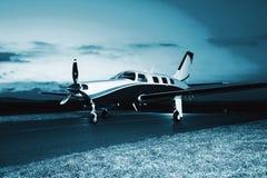 Single engine piston aircraft Stock Images