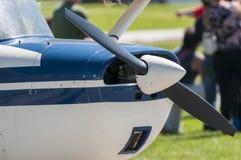 Single engine plane Stock Image