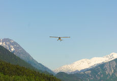 A single-engine  plane used for tours in alaska Stock Photography